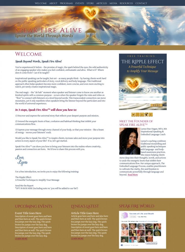 Speak Fire Alive Wildly Attractive Website Design by Magical Marketing
